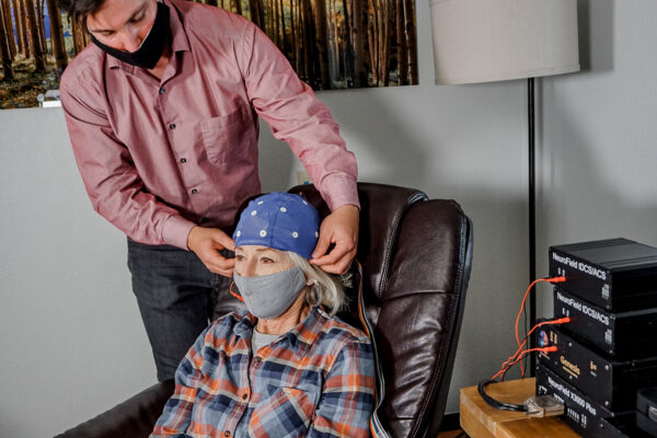 Masked Brain Mapping client and technician