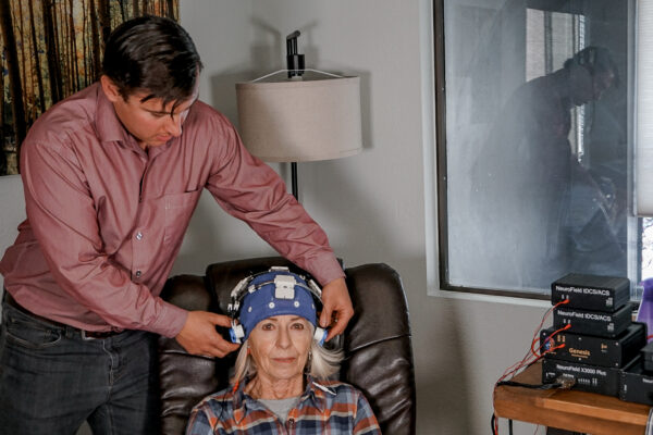 Neuro RX with EEG on coaching client